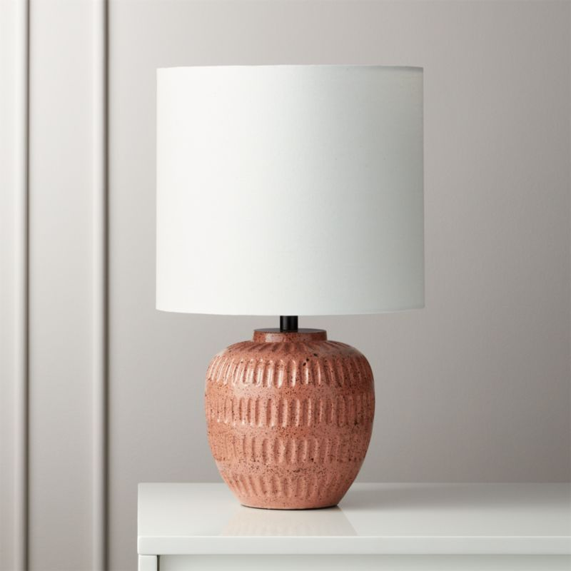 Pin By Emily Monte On Nyc Office Guest Pink Table Lamp Concrete Table Lamp Table Lamp