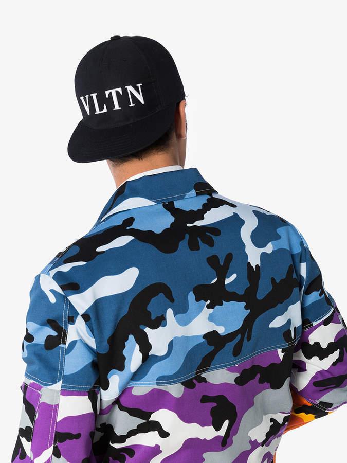 d7850f57886 Valentino Black vltn logo baseball cap