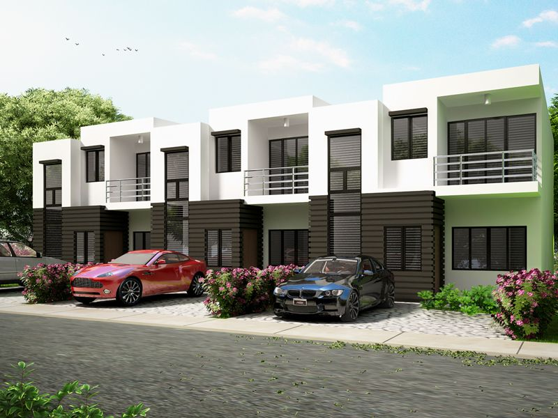 Townhouse plans series php 2014010 pinoy house plans for Townhouse design philippines