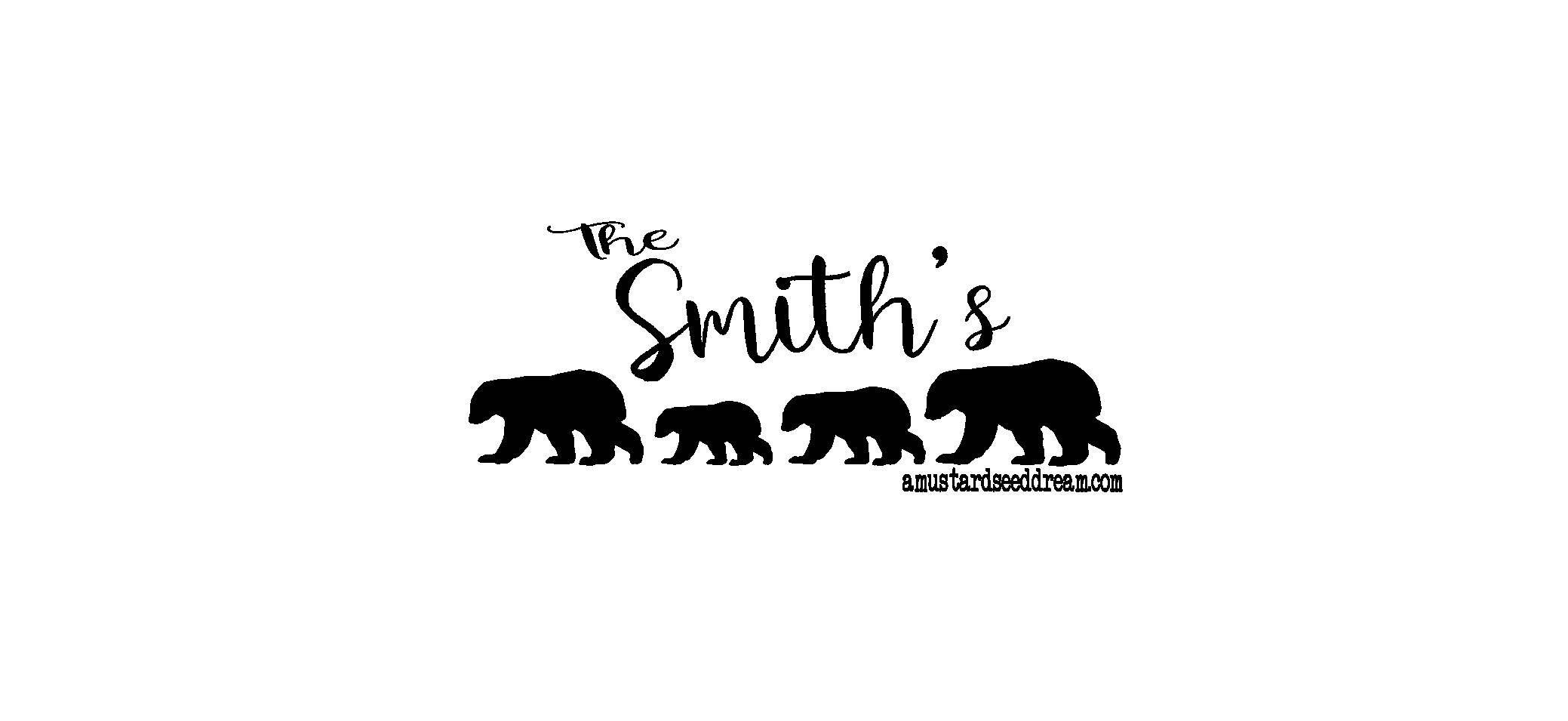 Personalized mailbox decal with bears vinyl wall art graphics
