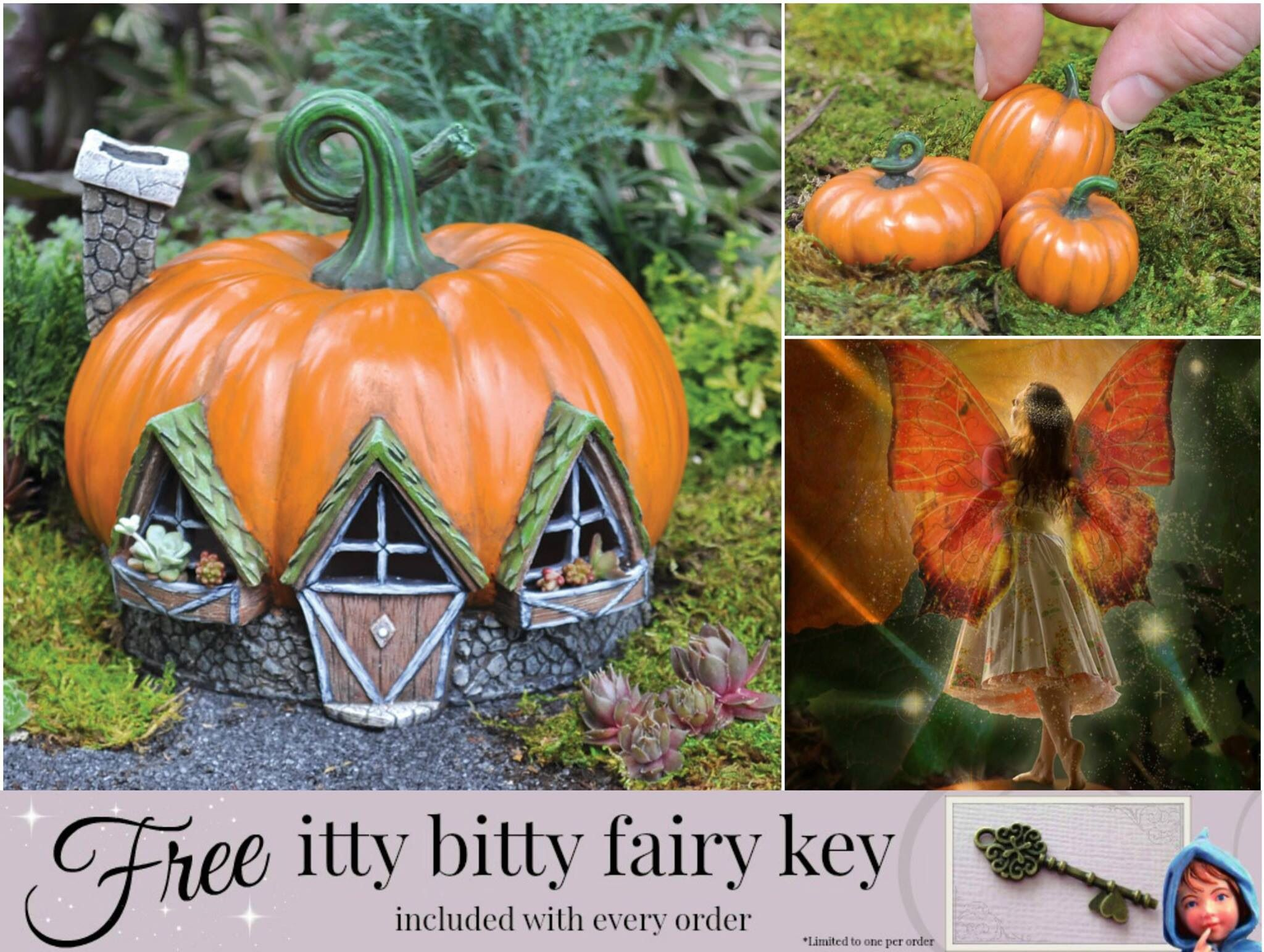 This website has everything you need to create a beautiful fairy garden for  your little princess
