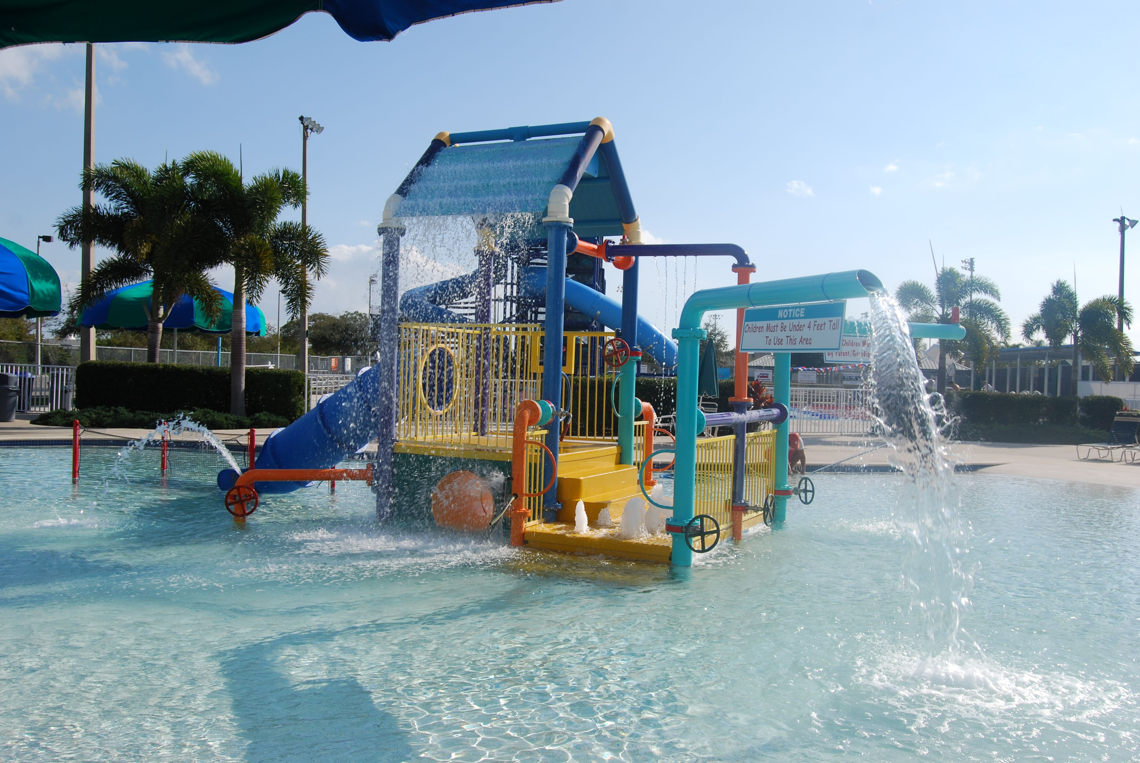 The Kiddie Pool At The Fort Myers Aquatic Center In Fort Myers Fl