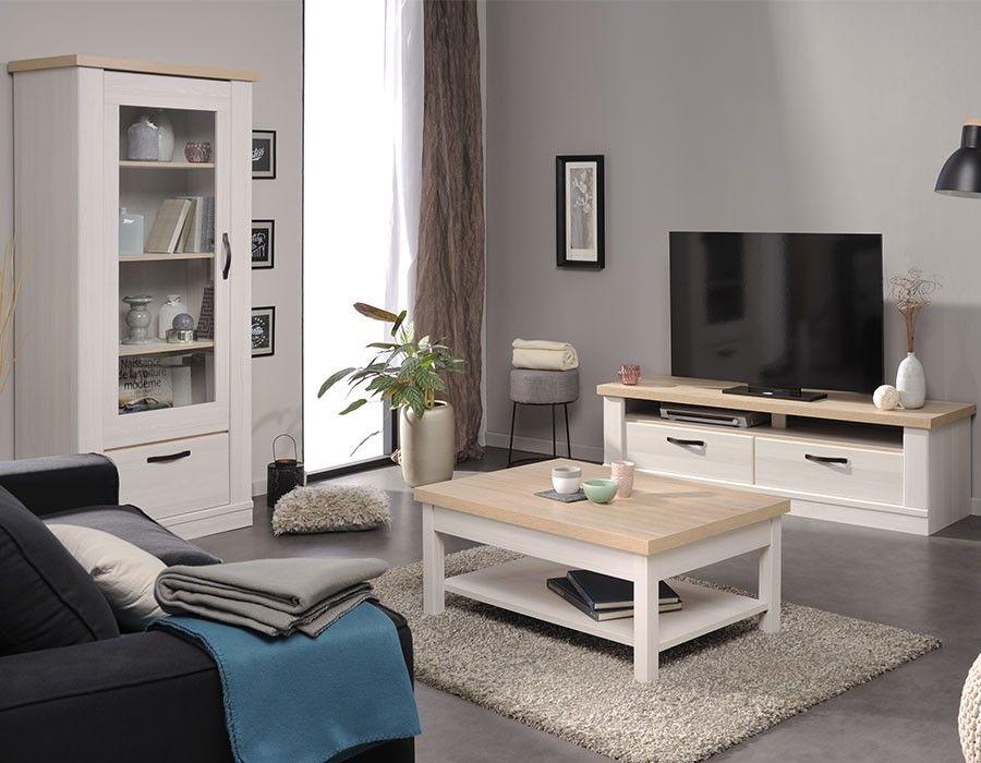 Meuble Tv Blanc Laque Bois Ensemble Tv Mural Design Laque Blanc Et Chene Clair Bahal Miliboo Mobilier De Salon Ensemble Meuble Tv Meuble Tv Blanc Laque