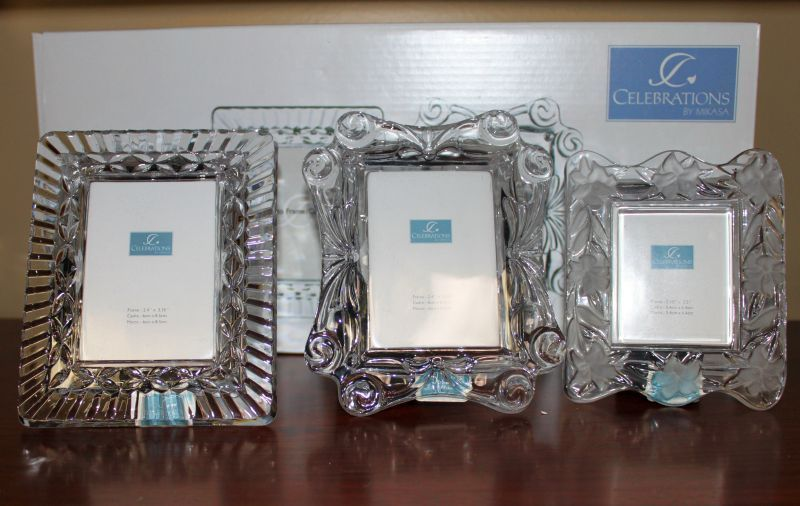 mikasa 3 assorted crystal frames from mikasa celebration collection monstermarketplacecom
