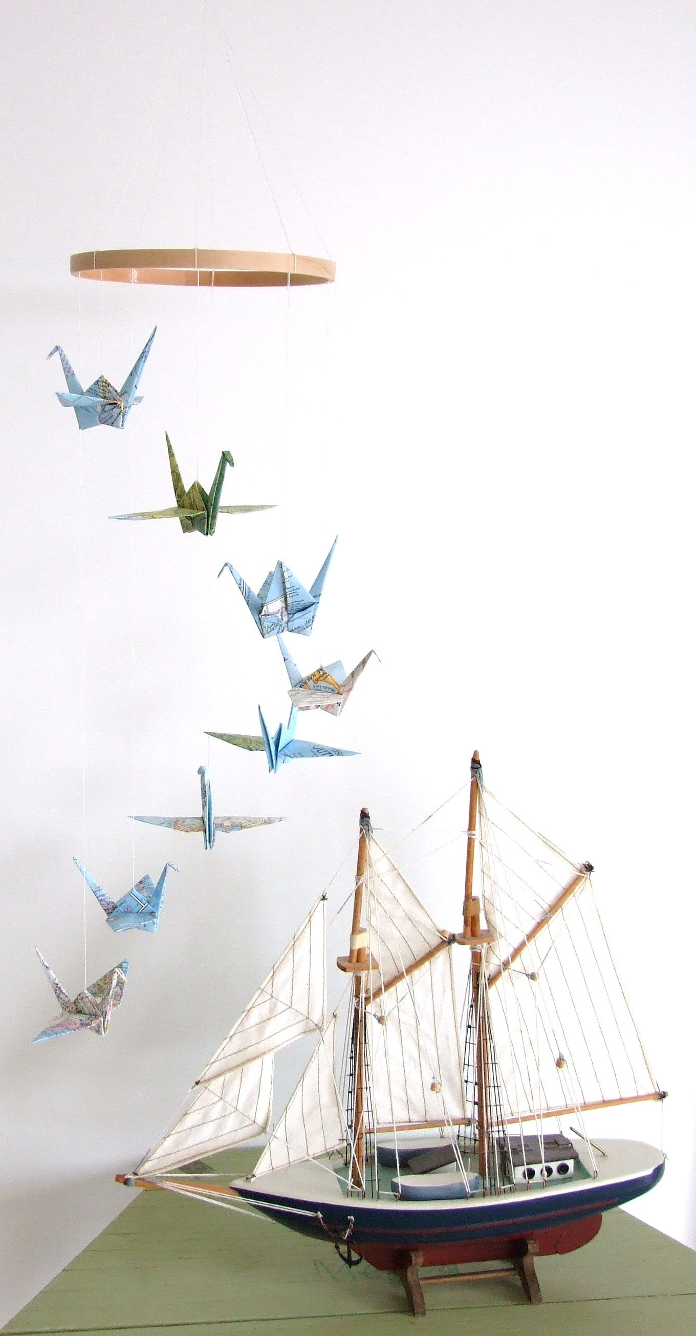 origami crane mobile | Children's mobiles | Pinterest ... - photo#15