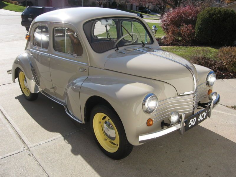 1950 Renault 4CV Maintenance/restoration of old/vintage vehicles: the material for new cogs/casters/gears/pads could be cast polyamide which I (Cast polyamide) can produce. My contact: tatjana.alic@windowslive.com