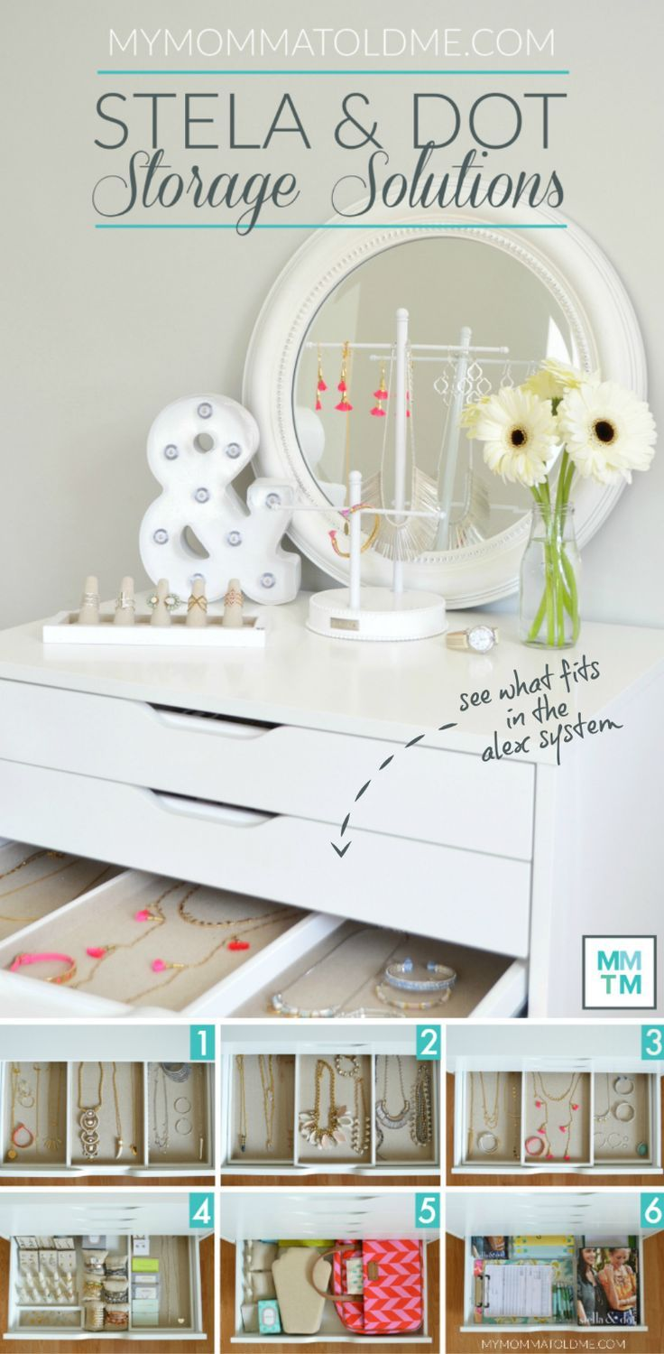 Ikeas ALEX drawers are perfect for Stella Dot Jewelry Storage