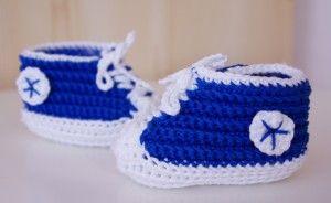 Häkeln Baby Chucks Blau Anleitung Stricken Und Häkeln Pinterest