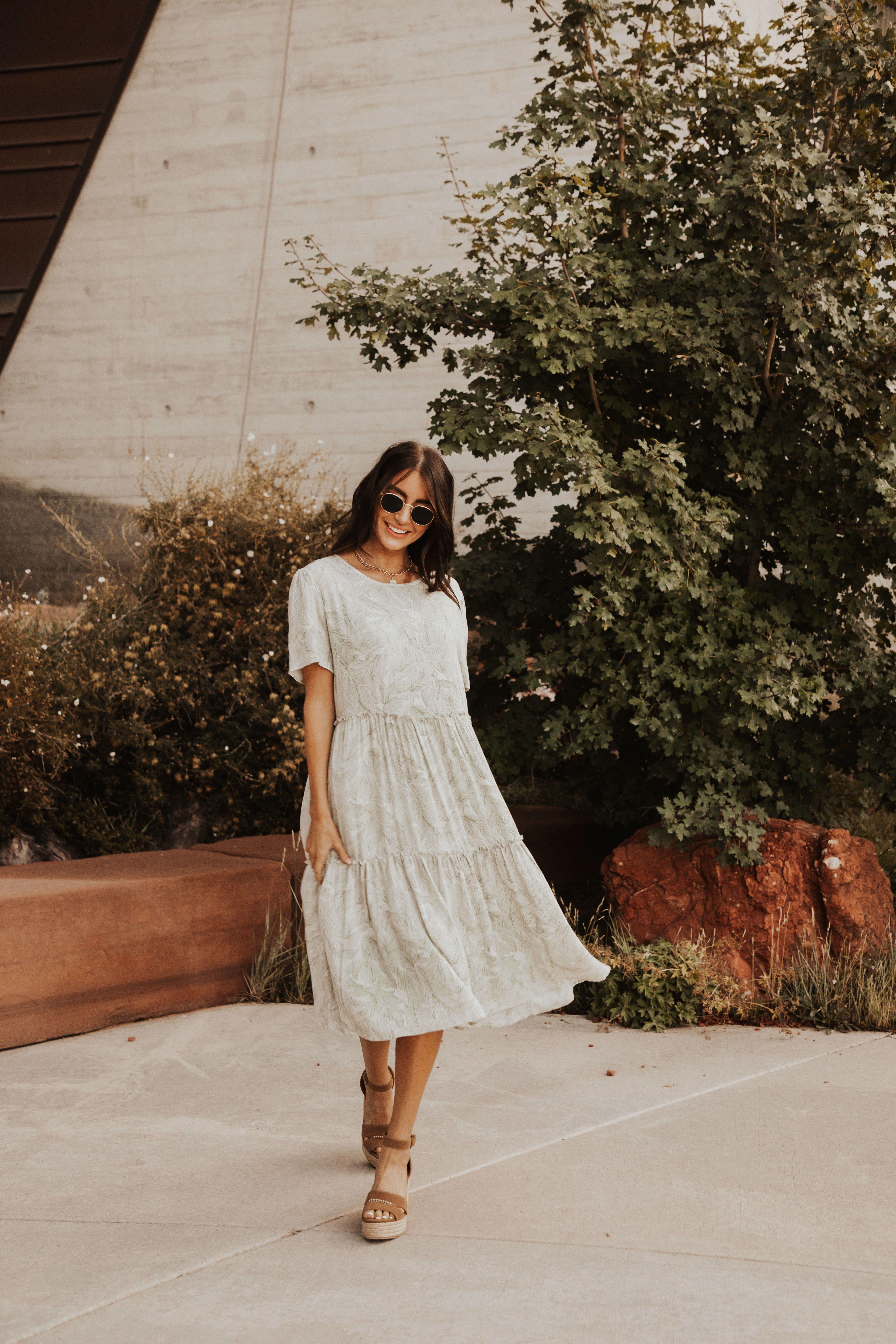 Forest Tiered Midi Dress Dresses Midi Dress Perfect Dress [ 6720 x 4480 Pixel ]