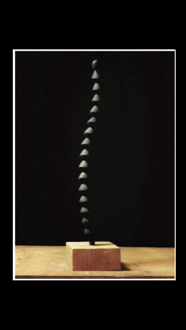 "Axel Cassel - "" Petit Diabolo "", 1993 - Bois - Height : 75 cm"