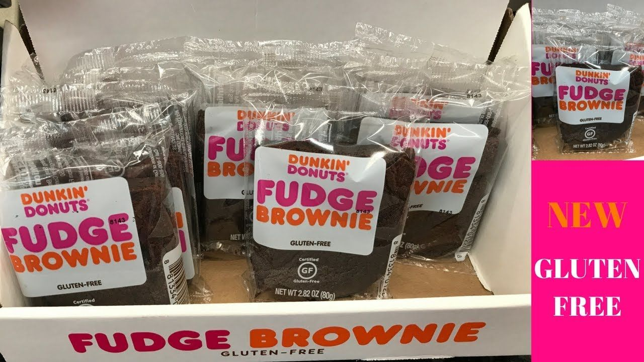 Dunkin Donuts NEW GLUTEN FREE Fudge Brownies ~ Review # ...