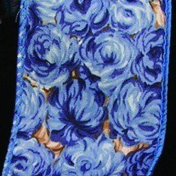 """Blue Roses Print Cotton Wired Craft Ribbon 2"""" x 40 Yards >>> You can get more details by clicking on the image."""