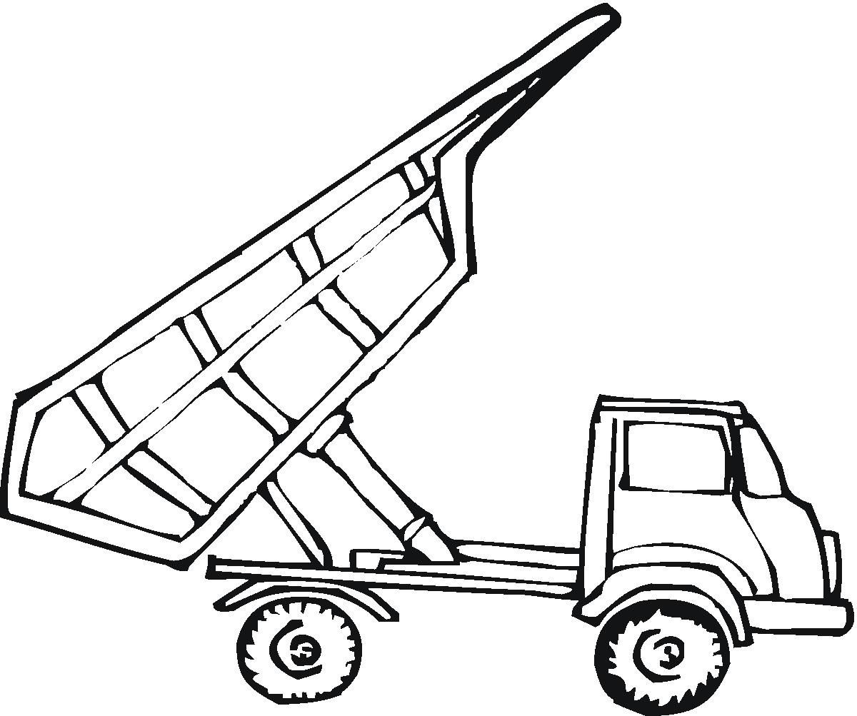 empty tipper truck coloring page cars coloring pages pinterest