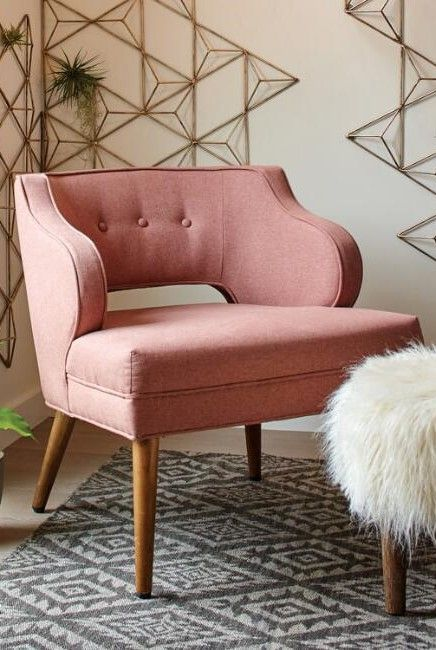 Rose Pink Tyley Chair | Bedroom | Pinterest | Room, Living rooms and ...