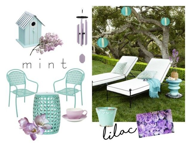 """""""Outdoor. Lilac&Mint"""" by shiana-rauea ❤ liked on Polyvore featuring interior, interiors, interior design, home, home decor, interior decorating, Cultural Intrigue, DutchCrafters, Dibbern and colorchallenge"""