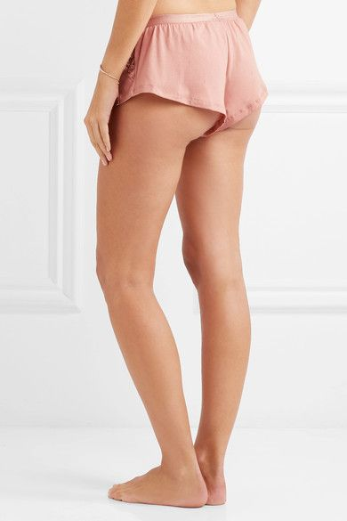 Lace-paneled Cotton-blend Shorts - Antique rose Cosabella 6nM2t6CZlm