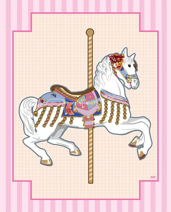 Baby Nursery Carousel Horse Prints 8 By 10 On Etsy
