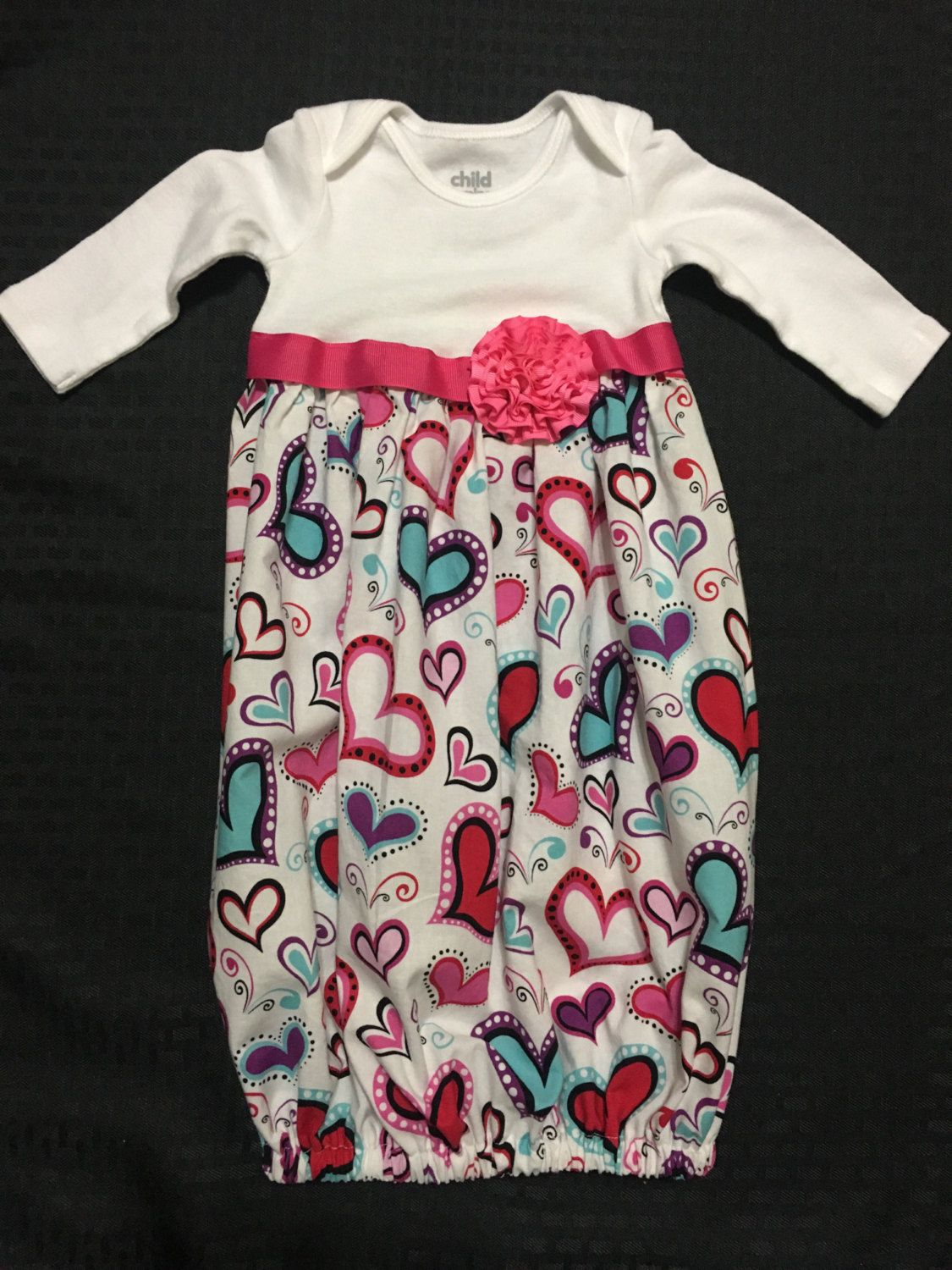 Handmade baby gownBaby gowns; Monogrammed Baby Gown, Going Home ...