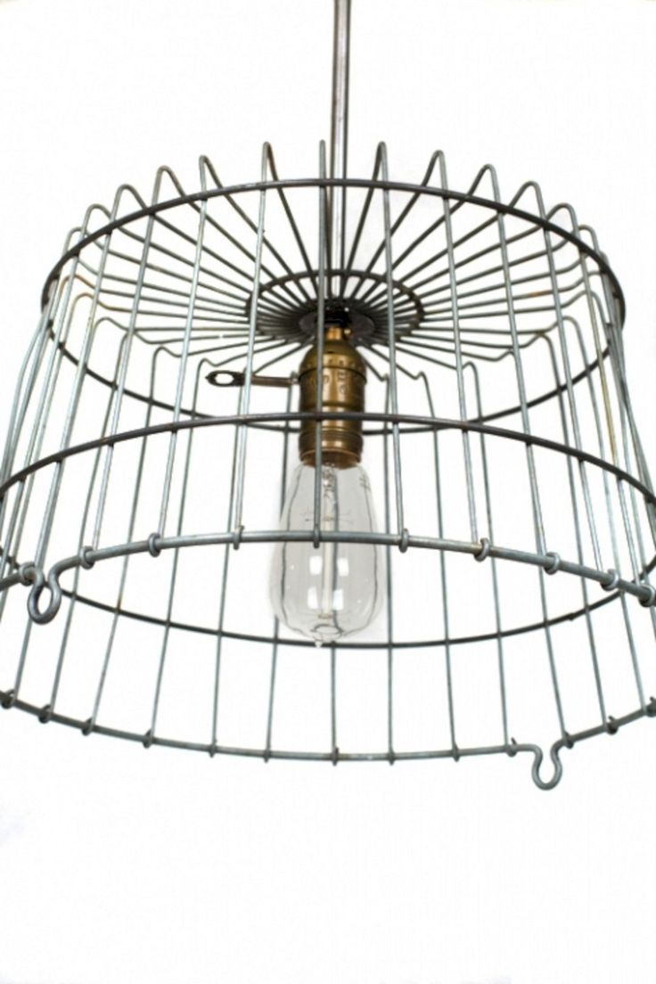 Unconventional Professional Wire Basket Lighting Fixtures