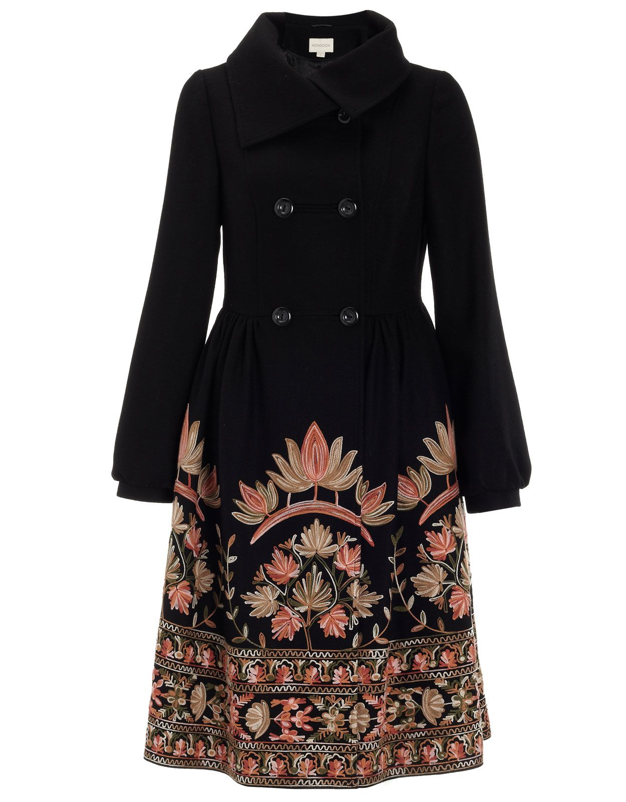 Jaipur Embroidered Skirt Coat | Black | Monsoon | My Style | Pinterest | Monsoon And Jaipur