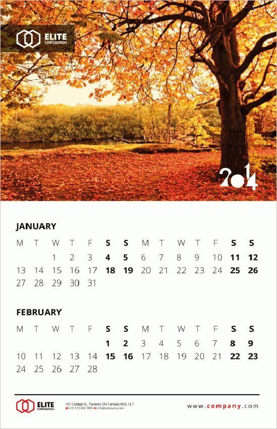 Wall Calendar Design Inspiration : New year wall desk calendar designs for