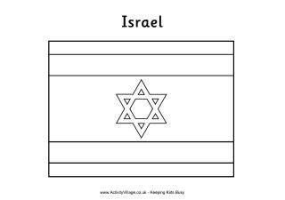 Vlag Kleurplaat Flag Coloring Pages Israeli Flag