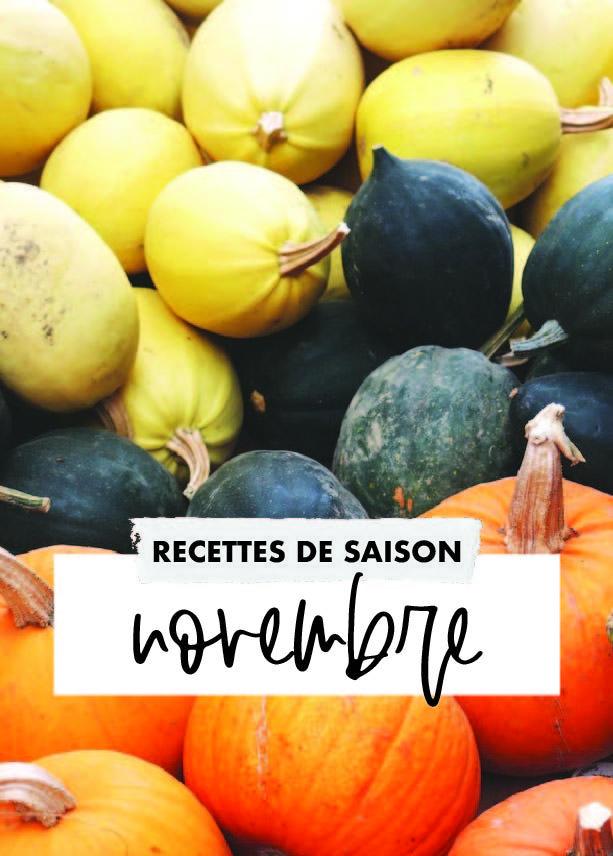 Novembre: idées recettes de saison – PLANbouffe