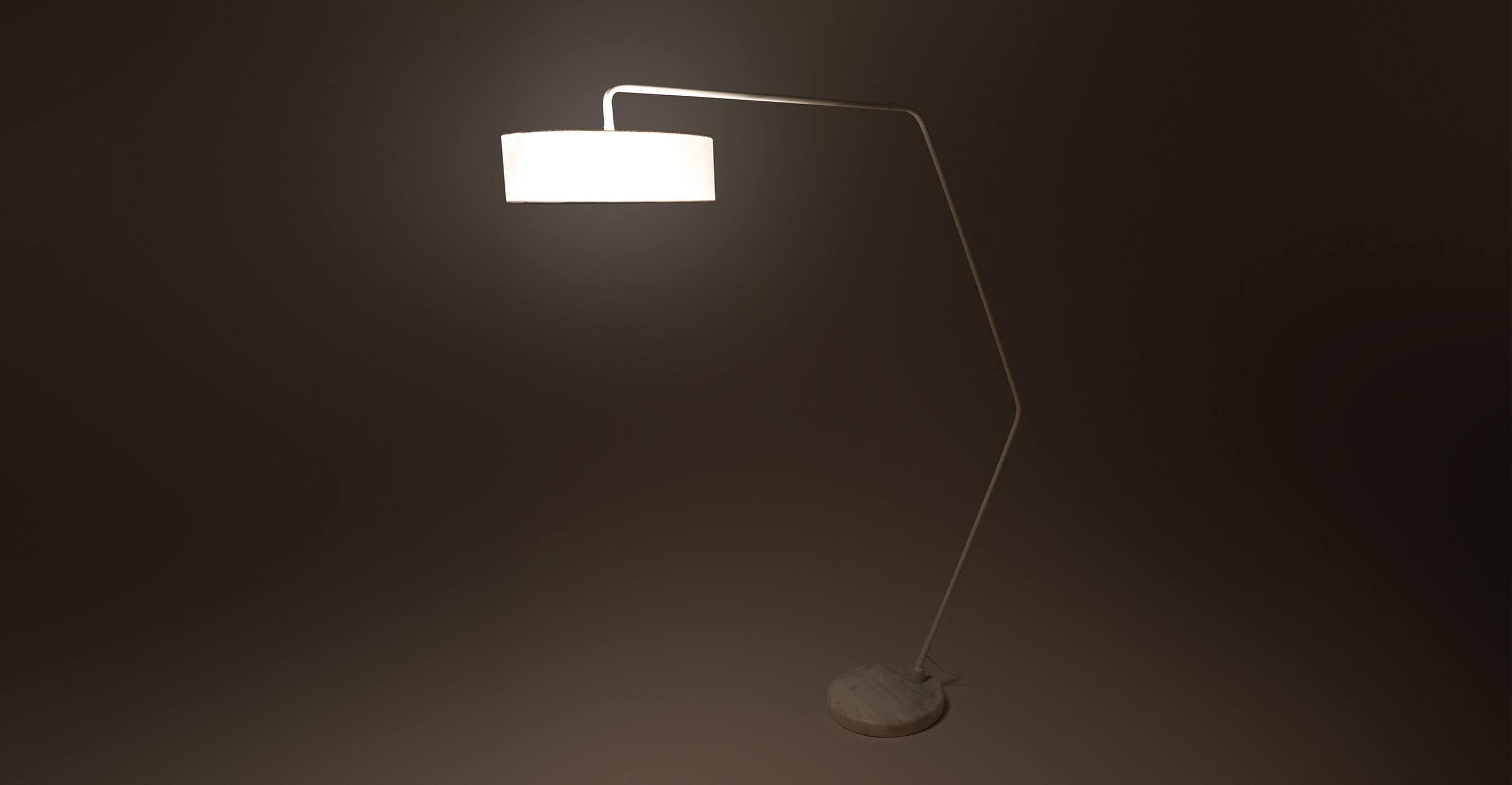 Heron White Floor Lamp White Floor Lamp Floor Lamp Lamp