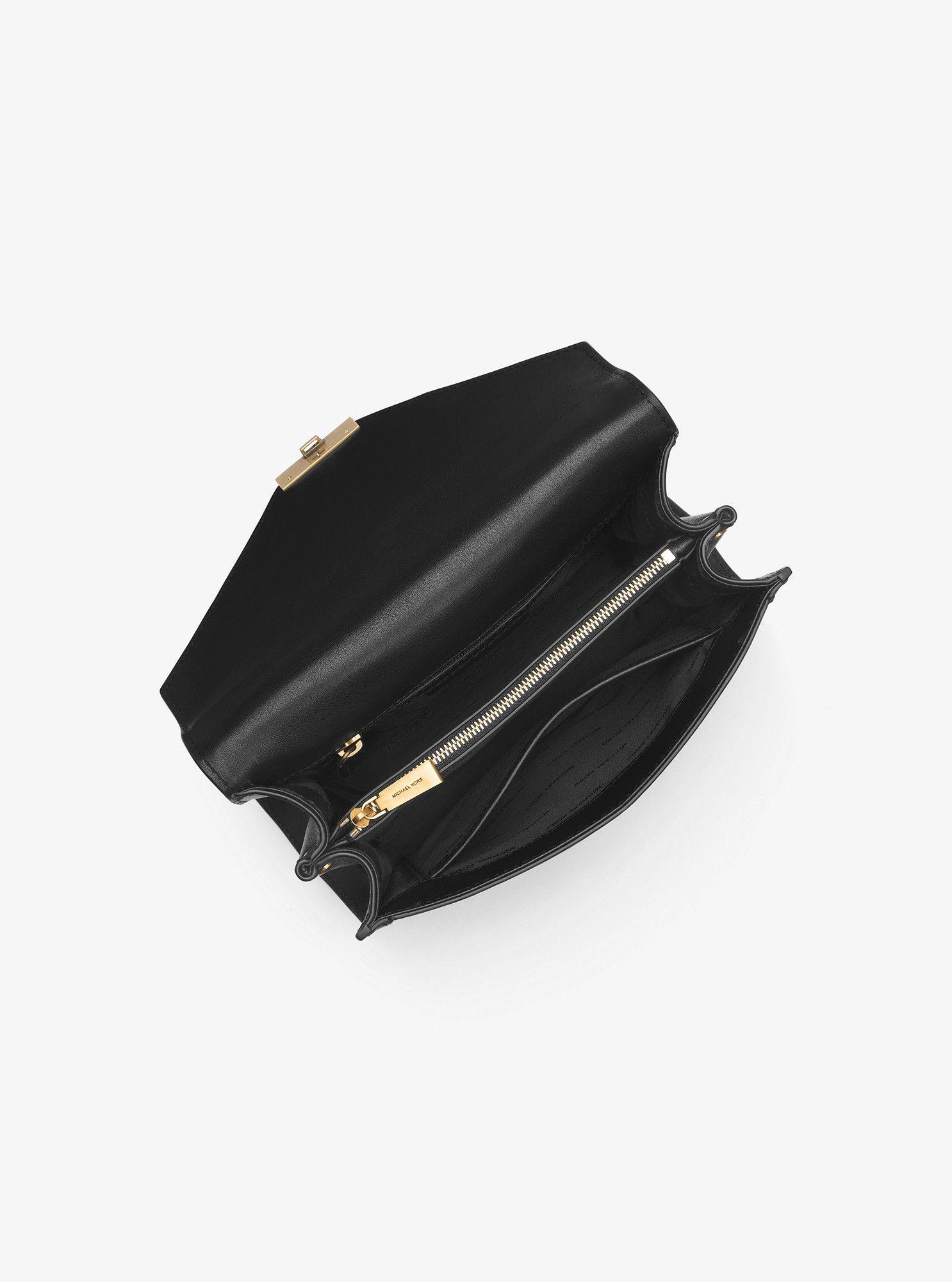 77539481ded Michael Kors Whitney Large Embellished Leather Convertible Shoulder Bag - Optic  White