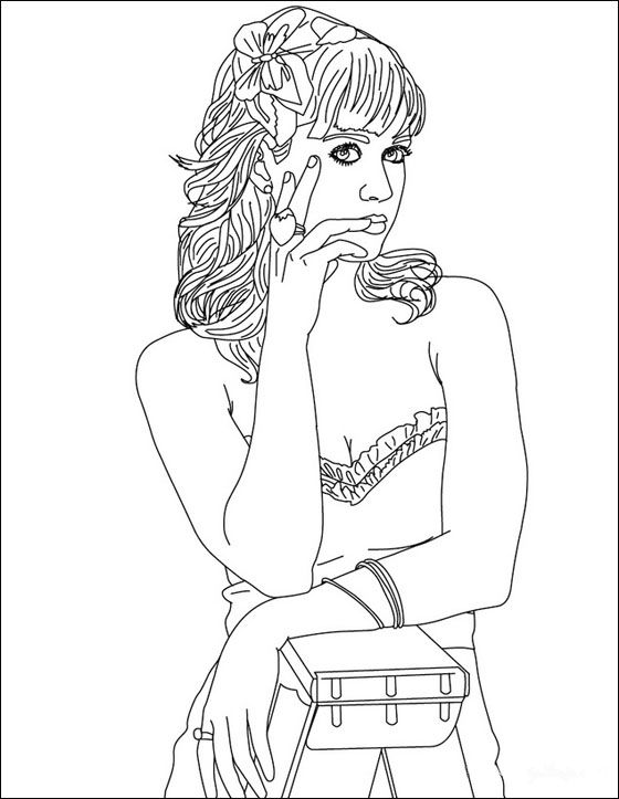 Katy Perry Coloring Pages