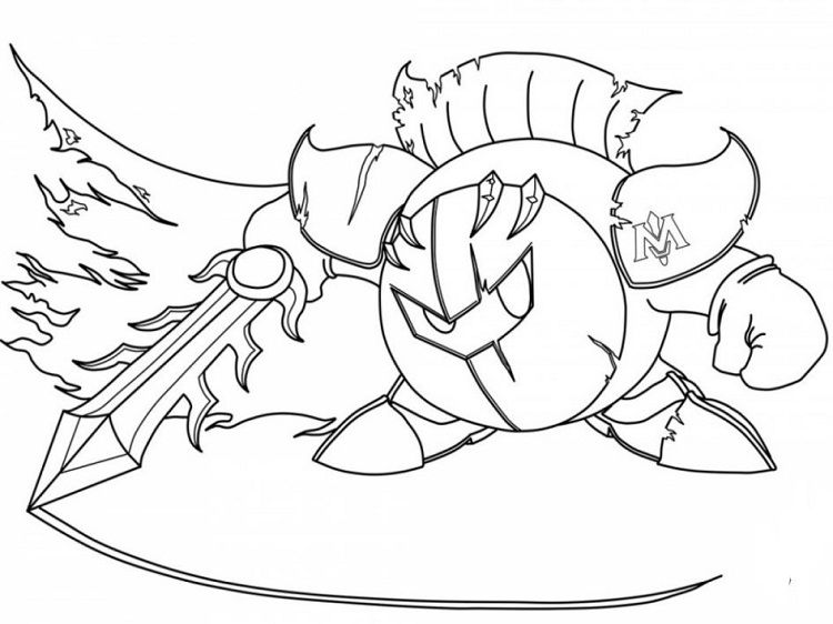 Kirby Meta Knight Coloring Pages Coloring Pages For Kids