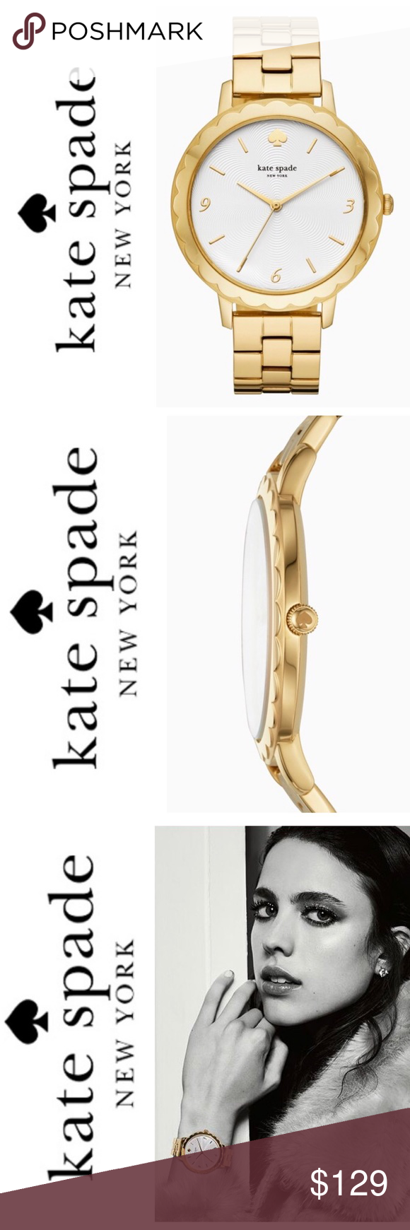 b9ee9d21e01 New Kate Spade morningside Gold Tone Watch happy hour takes on new meaning  with our spirited metro watch. crafted with sweet