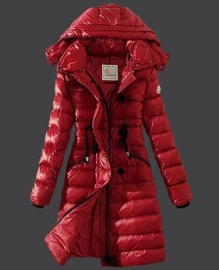 795134e6ae09 Moncler Winter Down Coat Women Hooded Slim Red  moncler  monclercoat ...