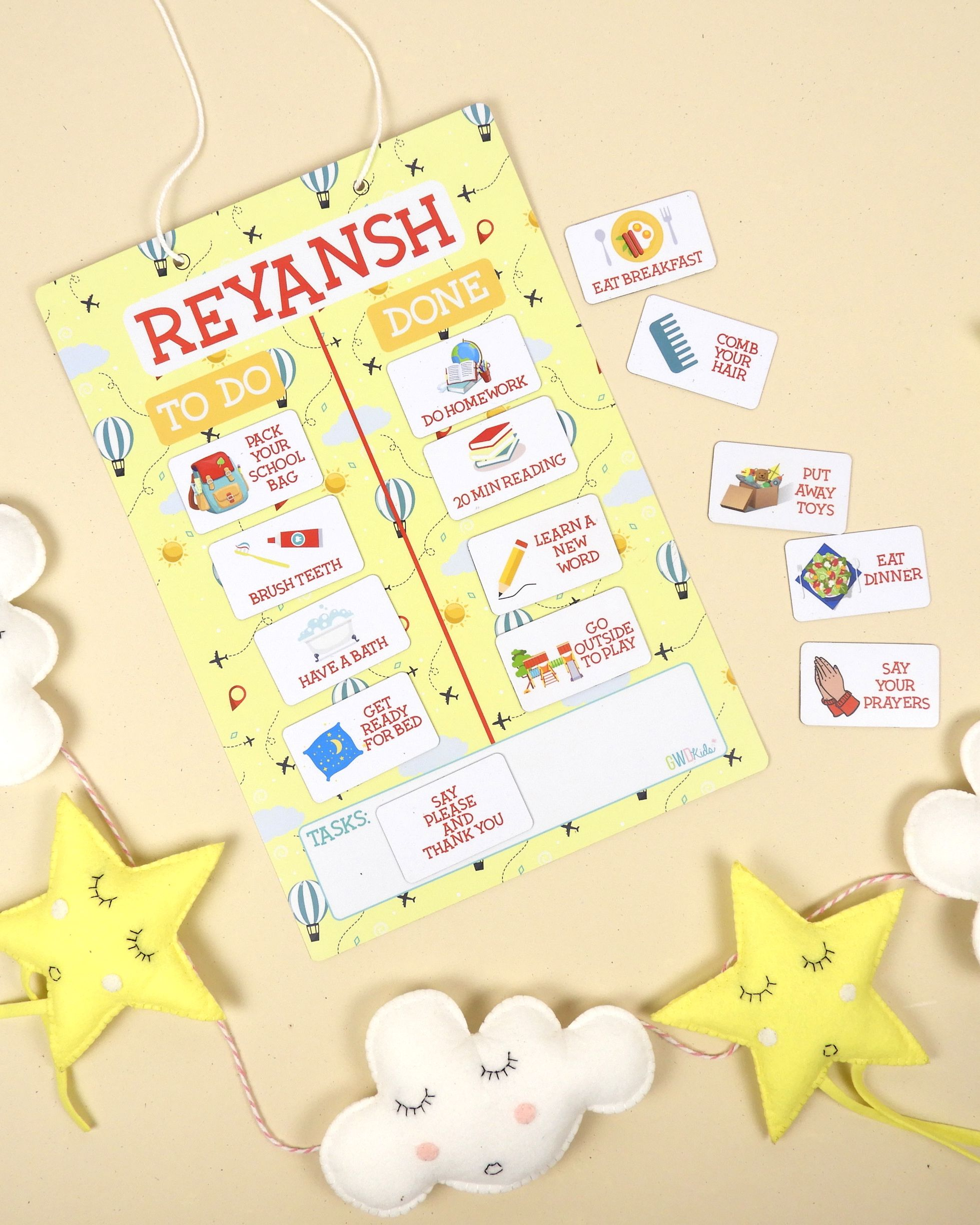 Healthy Habits Magnetic Chart