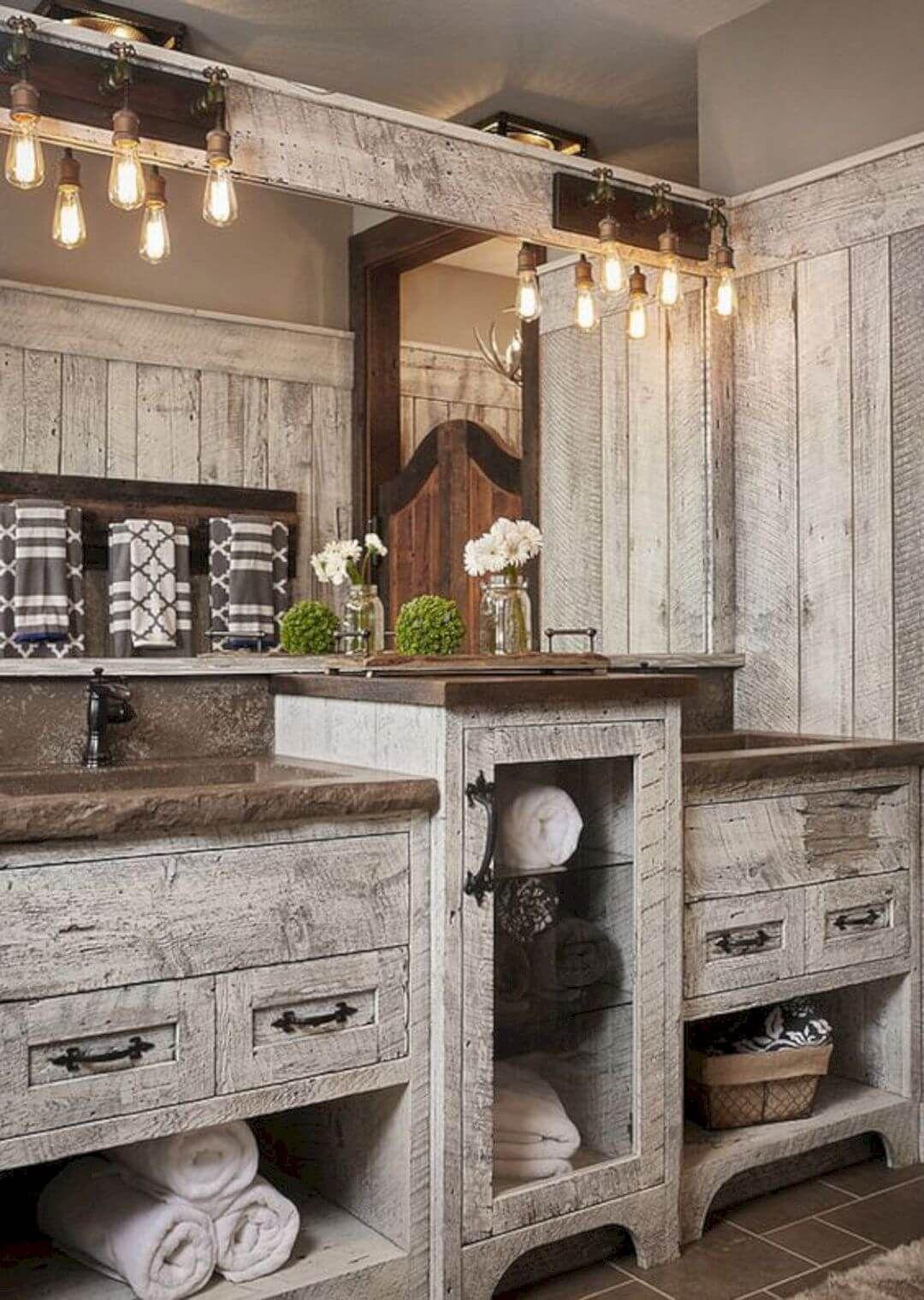 Badezimmer design tür  rustikale badezimmereitelkeitsideen zum ihrer nächsten