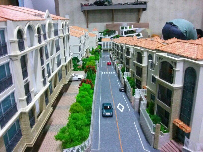 건축모형 제작 럭셔리한 단독,공동주택단지 make Construction model