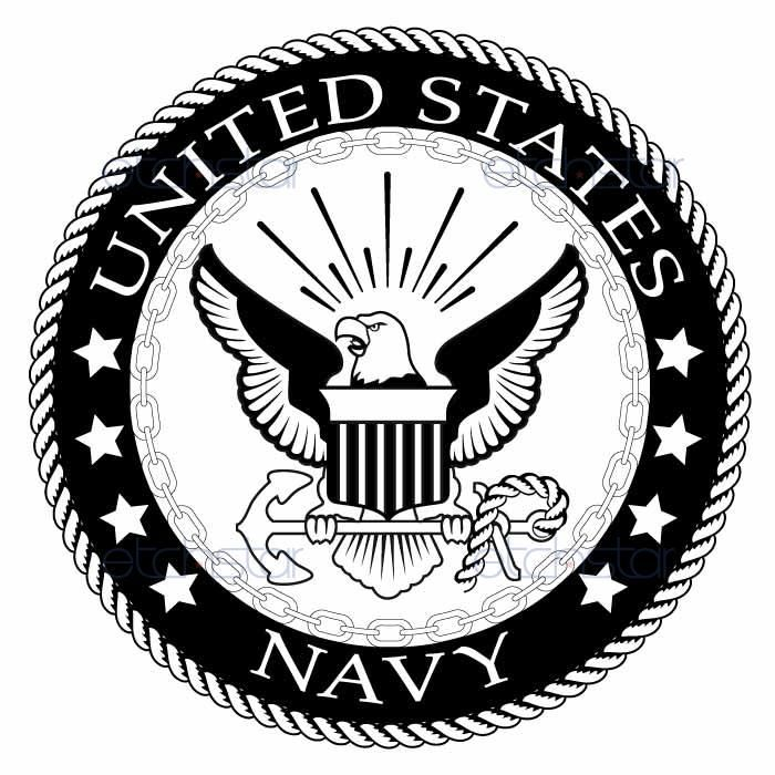 us navy large back patch black white for vest jacket 10 inch rh pinterest com free military clipart collection free military clip art borders backgrounds