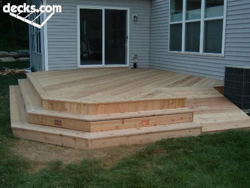 Low elevation deck picture gallery front porch ideas for Low elevation deck plans
