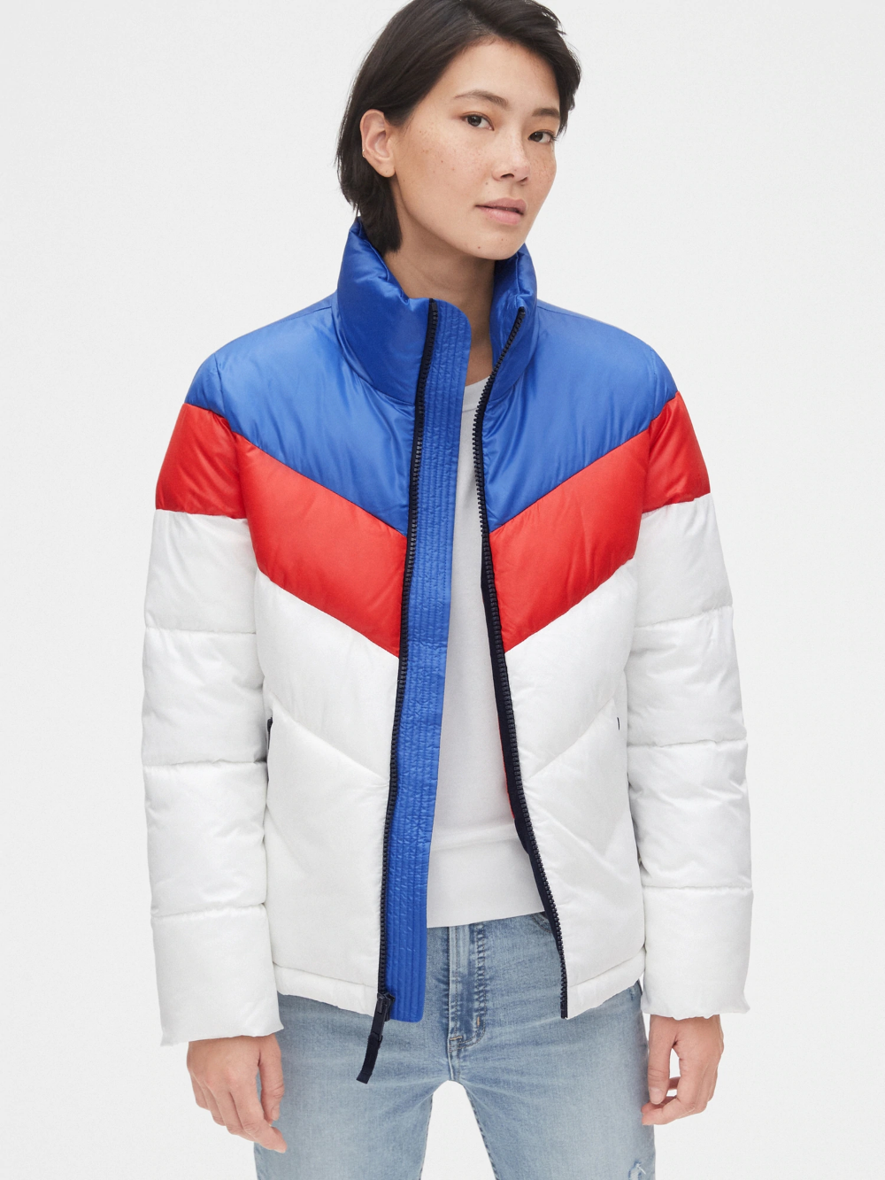 Coldcontrol Max High Shine Colorblock Puffer Jacket Gap Stripes Fashion Baby Kids Clothes Clothes [ 1333 x 1000 Pixel ]