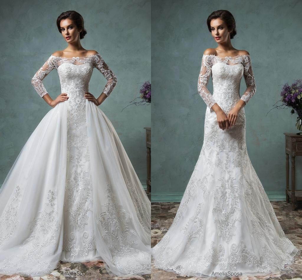 Cheap amelia sposa 2016 sexy muslim wedding dresses with for Cheap muslim wedding dresses