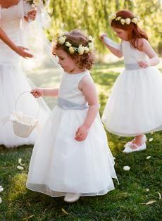 Adorable Flower Girls (Elegant St. Helena Wedding Captured by Meg Smith Photography)