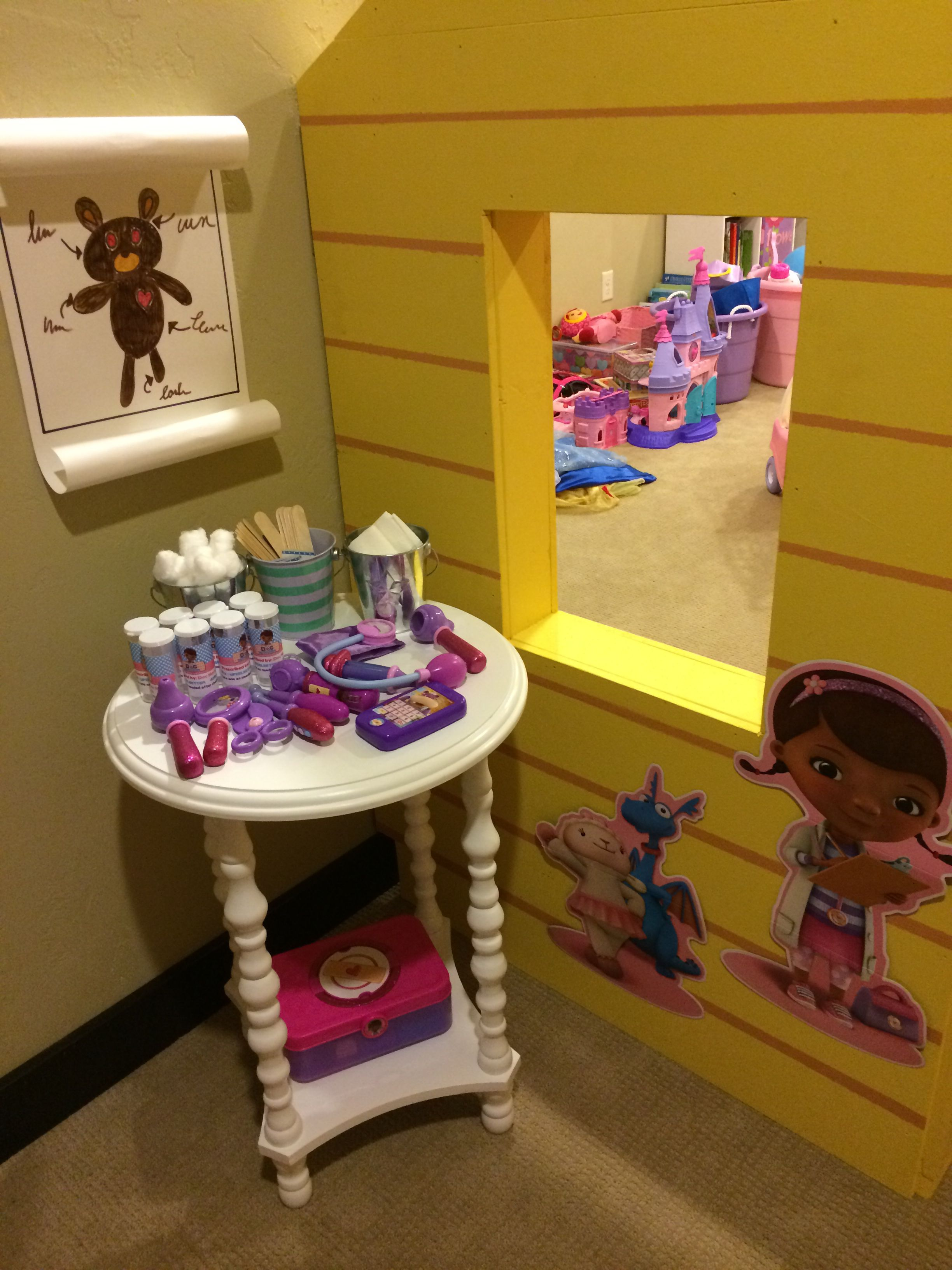 Doc Mcstuffins Clinic Playhouse Ideasdaughters Roomkid