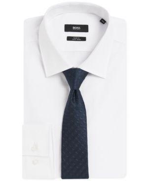Boss Men's Silk Tie - Blue