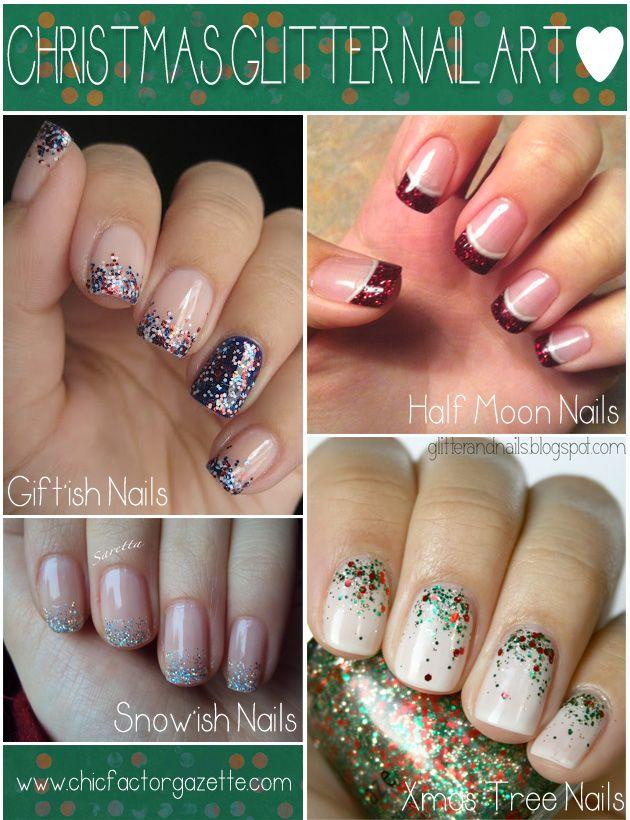 Glitter nail art christmas ideasg 630820 pixels beauty glittery nail arts christmas new years prinsesfo Gallery