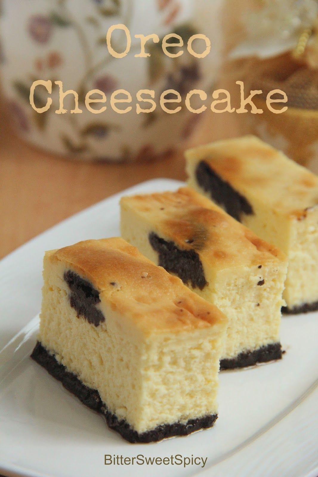 Oreo Cheesecake BitterSweetSpicy Cheesecake, Almond