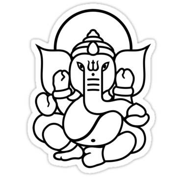Pics for simple ganesha face drawing