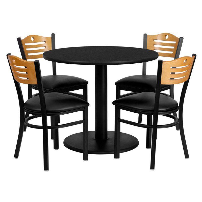 Flash Furniture Md 0009 Gg 36 Round Black Laminate Table