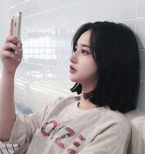 Image result for asian blunt bob with bangs | Fryzury