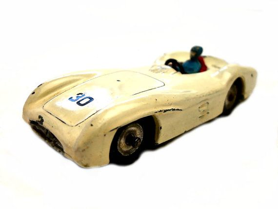 1950s Vintage Dinky 237 Mercedes Benz Racing Car Toy Collectible Made in England