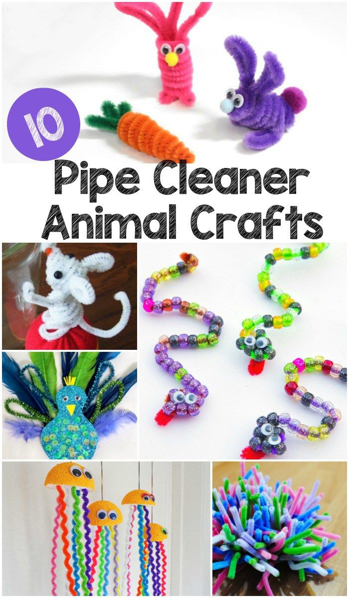 10 Pipe Cleaner Animals Pins From In The Playroom Animal Crafts
